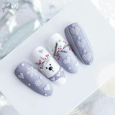 Amazing winter holiday nails❄ Visit the article to find out more. Amazing winter holiday nails❄ Visit the article to find out . Xmas Nail Art, Christmas Gel Nails, Holiday Nails, Fall Nails, Christmas Christmas, Summer Nails, Xmas Nail Designs, Acrylic Nail Designs, Nail Art Designs