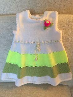 Вязание спицами для детей. Платье для девочки 2-3-х лет Bb, Sweaters, Handmade, Fashion, Tejidos, Hand Made, Moda, La Mode, Pullover