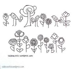Flowers embroidery pattern by Cul de Sac