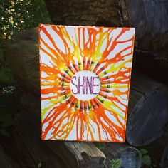 11x14 Melted Crayon Art by ThisIsElevenEleven on Etsy
