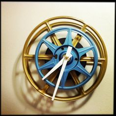 Wall Clock made from Recycled Upcycled Gold by DreamGreatDreams, etsy