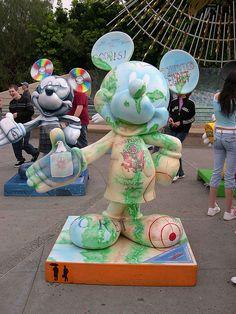 """UndercovEAR Mickey"" by Jennifer Garner.  Celebrate Mickey:  75 years of Mickey InsEARations.  In Disney California Adventure 2005."
