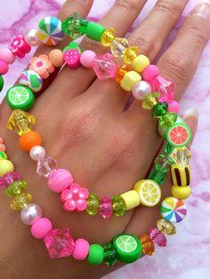 Kids Jewelry, Cute Jewelry, Jewelry Crafts, Beaded Jewelry, Handmade Jewelry, Beaded Necklace, Jewelry Making, Beaded Bracelets, Embroidery Bracelets