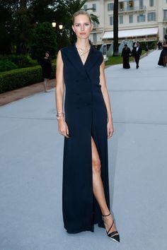 Karolina Kurkova en robe Christian Dior http://www.vogue.fr/sorties/on-y-etait/diaporama/les-plus-belles-robes-du-festival-de-cannes-2014/18787/image/1001266#karolina-kurkova-en-robe-christian-dior-festival-de-cannes-2014