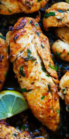 Garlic Butter Chicken Tenders - the BEST chicken tenders recipe ever! So flavorf. - Garlic Butter Chicken Tenders - the BEST chicken tenders recipe ever! So flavorful, tender, juicy and SO delicious. Try this recipe for dinner tonight Turkey Recipes, Dinner Recipes, Recipes For Lunch, Beef Recipes, Recipies, Gammon Recipes, Baked Meat Recipes, Ground Meat Recipes, Garlic Recipes