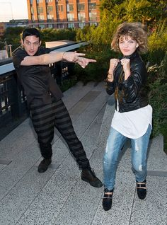 Robin Lord Taylor (L) and Camren Bicondova arrive at People StyleWatch Fall Fashion Party on August 12, 2015 in New York City.