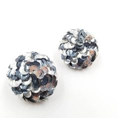 Check out this item in my Etsy shop https://www.etsy.com/listing/555936071/sequin-earrings-gray-sequin-clip-on
