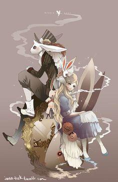 Bruno and Anne by Jon-Lock.deviantart.com on @DeviantArt (version of Alice in Wonderland)