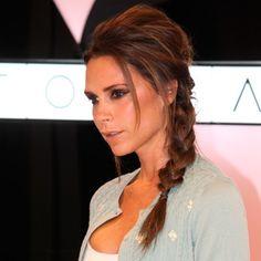 Braided Hairstyles 2014   Victoria Beckham's Side-Swept Braided Hairstyle