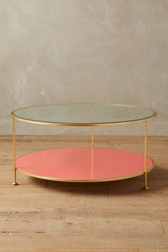 Lacquered Round Coffee Table | Anthropologie
