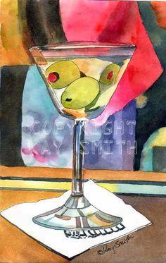 KaySmithBrushworks: Martini Time