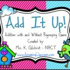 """Your students will have a blast playing this addition with and without regrouping game.   Offered for free by """"Workholic NBCT."""""""