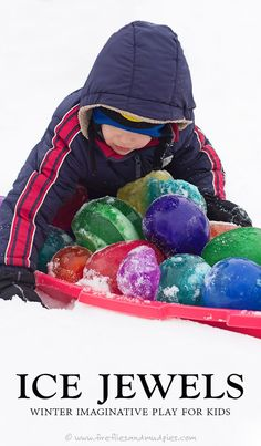 Ice Jewels: Winter Imaginative Play for Kids | Fireflies and Mud Pies