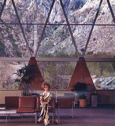 Aerial tramway station in #palmsprings by #albertfrey (1963)