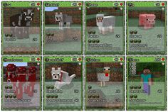 It's a trading card game with a Minecraft theme, this game plays like Pokemon TCG but with changes and different type cards.