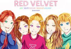 Red Velvet fan art - Buscar con Google
