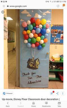 Up Film, Disney Pixar Klassenzimmertür Dekoration - Holly Hanna - Pin Disney Classroom, Preschool Classroom, Classroom Themes, Hot Air Balloon Classroom Theme, Movie Classroom, Fall Classroom Door, Preschool Decor, Classroom Teacher, Teacher Appreciation Week