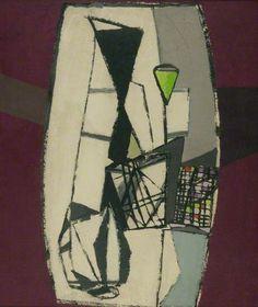 Composition, 1949 by Jankel Adler (Polish 1895 - 1949)