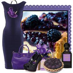 """Blackberry Pie"" by jackaford-bittick on Polyvore #purple #purplefashion"