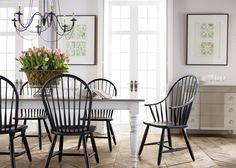 Farmhouse Dining Room Design Ideas - Page 19 of 36 Dining Room Design, Dining Room Chairs, Dining Room Furniture, Side Chairs, Dining Nook, Kitchen Dining, Home Design, Design Ideas, Ethan Allen Dining