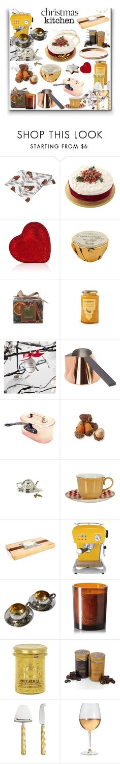 """""""Christmas Kitchen"""" by sue-mes ❤ liked on Polyvore featuring interior, interiors, interior design, home, home decor, interior decorating, Tom Dixon, Harrods, Ascaso and Diptyque"""