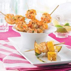 Entrée de mini-brochettes - Recettes - Cuisine et nutrition - Pratico Pratique