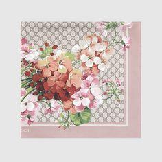 Gucci Women - GG Blooms print silk scarf - 4096773G0015465