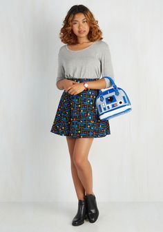 R2 With Me? Bag. Without a doubt, this vegan faux-leather handbag will come with you everywhere! #white #modcloth