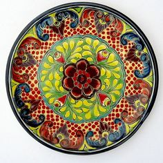 "Mexican Pottery Decorative Wall Decor Plate 11 3 4"" Diameter | eBay"
