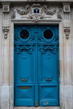 Blue Doors - Paris, France.