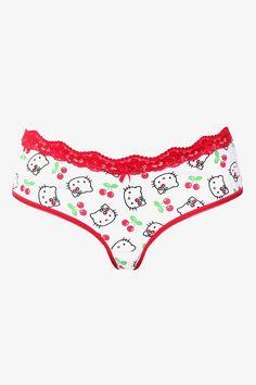 bb2ad2d8eb6a Hello Kitty Cherries Bikini | Buy 3, Get 3 Panties Cute Lingerie, Plus Size