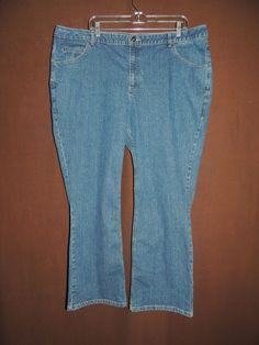 Liz Claiborne Women's Plus Denim Stretch Boot Cut Denim Blue Jeans Size 20W HOT! #LizClaiborne #BootCut