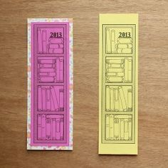 Keep track of the books you read in 2013 with this free printable bookmark