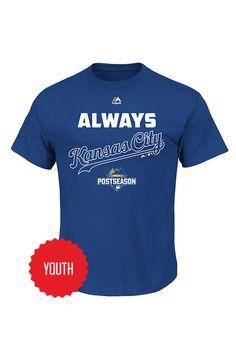 Kansas City Royals Youth Always October 2015 Postseaon T-Shirt http://www.rallyhouse.com/Kansas-City-Royals-Youth-Always-October-2015-Postseaon-T-Shirt?utm_source=pinterest&utm_medium=social&utm_campaign=150924CLINCH-KCRoyals $20.00