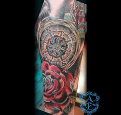 Compass Rose Tattoo - really beautiful although a little on the darkish side