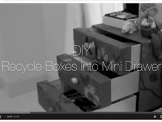 ey everyone! Here's another easy DIY for you. Hope you enjoy and find it helps :) Thank you for watching and thumbs up or leave any comments below! Old Boxes, Creative Crafts, Warehouse, Cube, Easy Diy, Drawers, Recycling, Mini, Old Crates