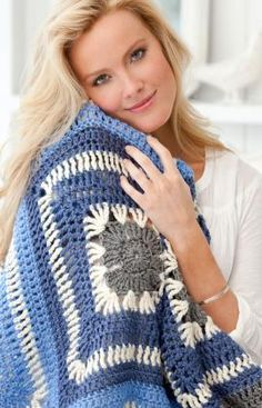 Speedy Granny Throw FREE crochet pattern