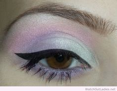 Pastel makeup idea