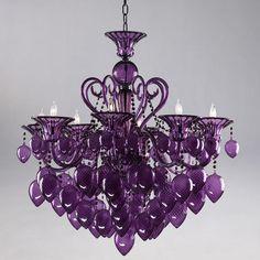 Cyan Purple Chandelier