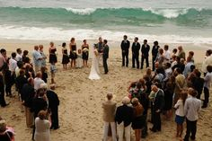 What better room shot that a wedding in the round at The Surf and Sand in Laguna Beach?