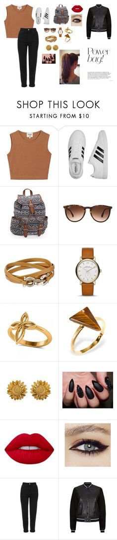 """Sem título #1"" by laurenmello-473 on Polyvore featuring moda, Samuji, adidas, Aéropostale, Ray-Ban, Salvatore Ferragamo, Marc Jacobs, Allurez, Ona Chan e Lime Crime"