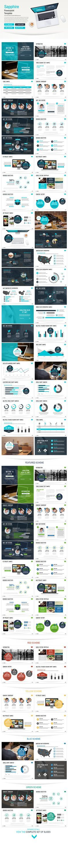 Sapphire powerpoint template (Powerpoint Templates) Preview 20picture