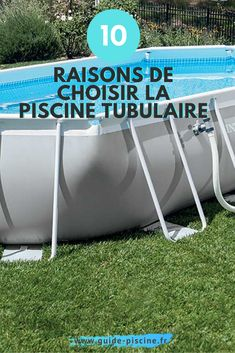 Piscine tubulaire : 10 bonnes raisons de construire une piscine hors sol tubulaire dans votre jardin. #piscine #tubulaire #horssol #jardin #terrasse #exterieur #amenagement Wind Turbine, Building A Swimming Pool, Patio