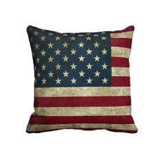 Vintage U.S. Flag Pillow
