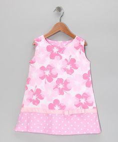 Look at this #zulilyfind! Pink Hawaiian Shift Dress - Toddler & Girls by Beary Basics #zulilyfinds
