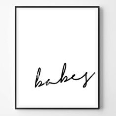Babes Print Quote Marble Print Black and white by ScandiHomeDesign