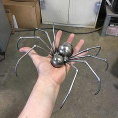 Metal sculpture sculpture spider welded spider by RayMercadante