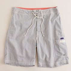 "J. Crew 9"" long board short in seersucker"