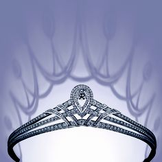 Chaumet tiara with diamonds set in platinum