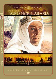 Lawrence de Arabia (1962) Reino Unido. Dir.: David Lean. Aventuras. Biográfico. Cine épico. I GuerraMundial -- DVD CINE 1611
